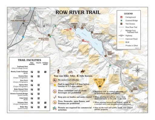 map of Row River - Trail Map