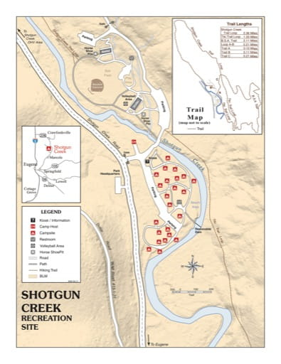 map of Shotgun Creek - Recreation Map