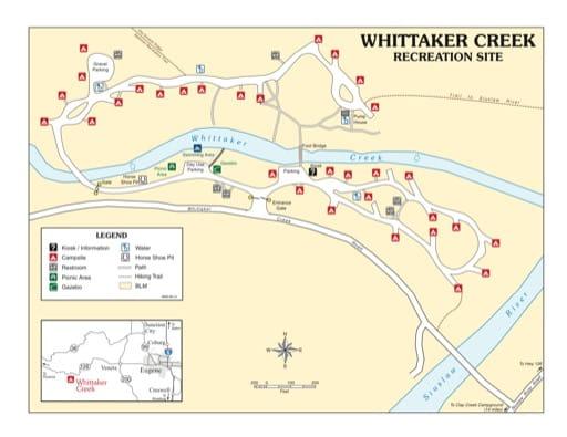 map of Whittaker Creek - Recreation Map