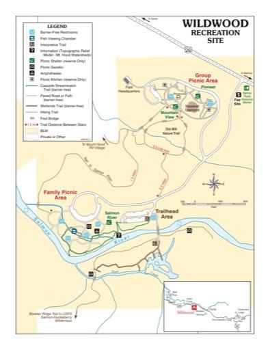 map of Wildwood - Recreation Map