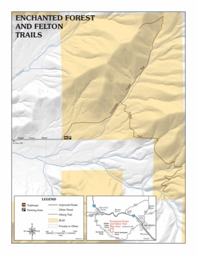 map of Enchanted Forest and Felton - Trail Map