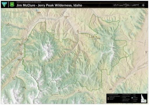 map of Jim McClure-Jerry Peak - Wilderness Map