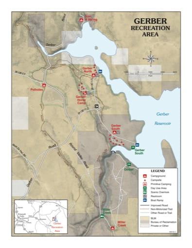 map of Gerber - Recreation Map