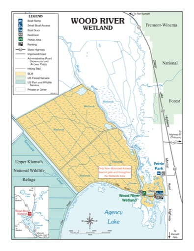 map of Wood River Wetland - Recreation Map