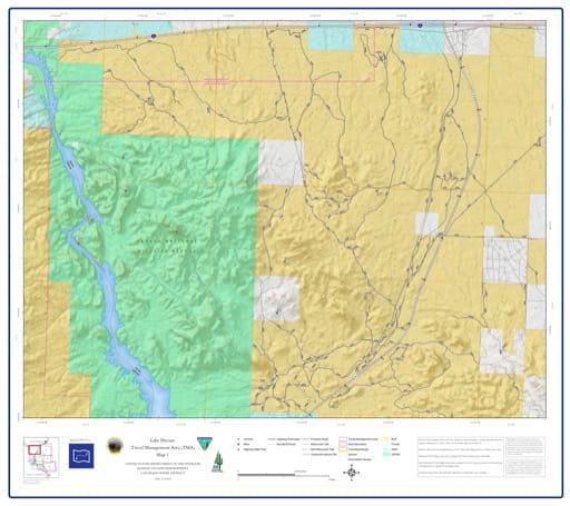 map of Lake Havasu Travel Management - Area 1
