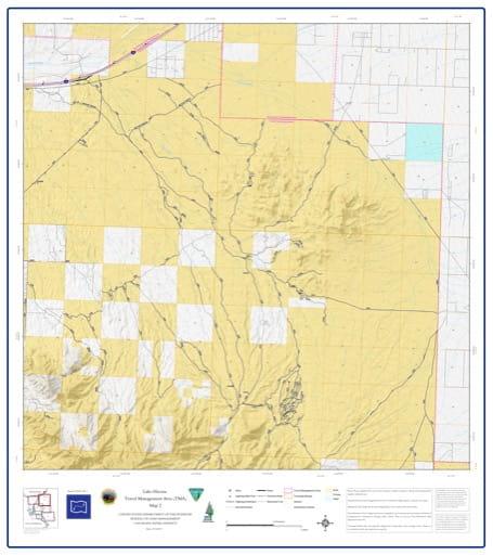 map of Lake Havasu Travel Management - Area 2