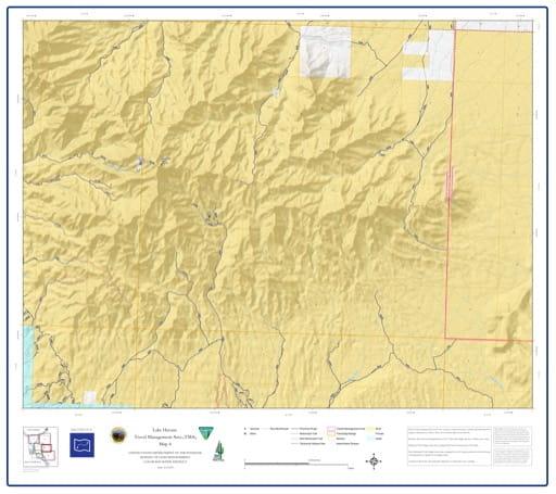 map of Lake Havasu Travel Management - Area 4
