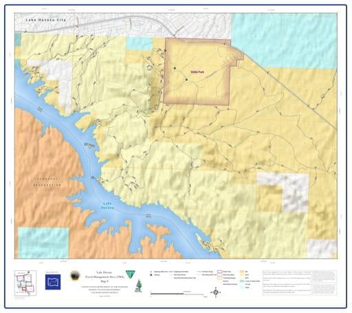 map of Lake Havasu Travel Management - Area 5