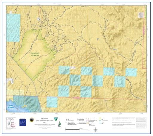 map of Lake Havasu Travel Management - Area 6