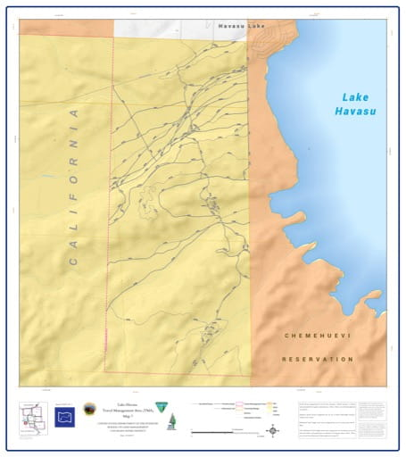 map of Lake Havasu Travel Management - Area 7