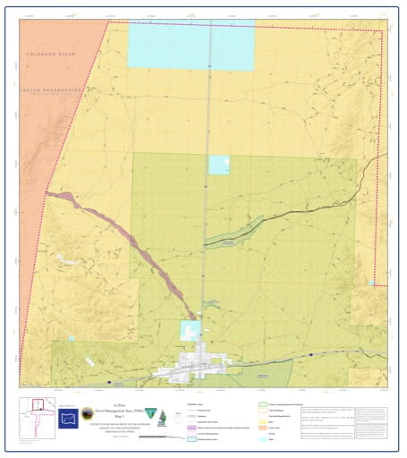 map of La Posa - Travel Management Area 1