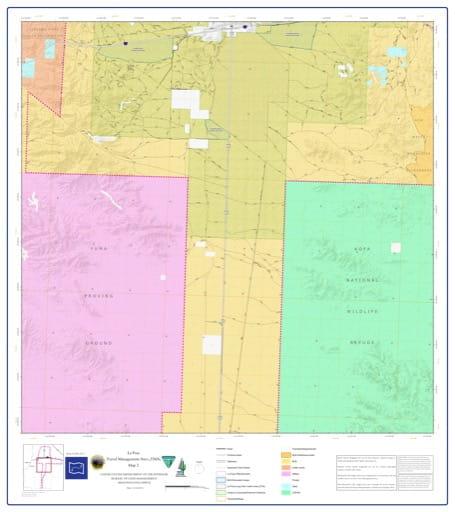 map of La Posa - Travel Management Area 2