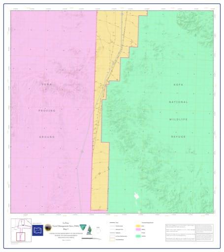 map of La Posa - Travel Management Area 3