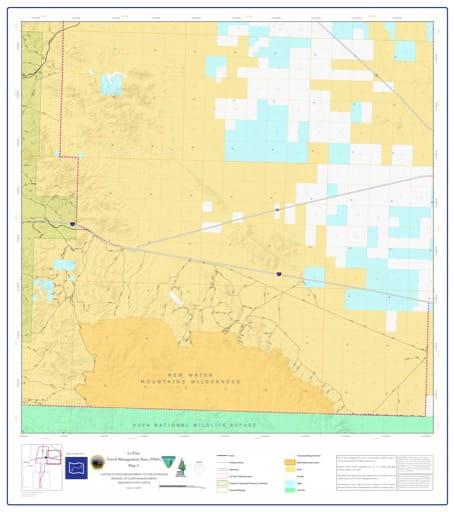 map of La Posa - Travel Management Area 4