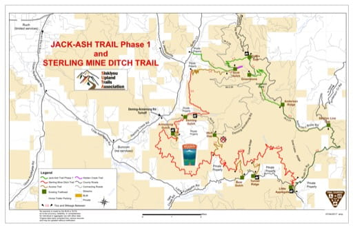 map of Applegate - Jack-Ash Trail
