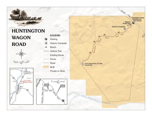 map of Huntington Wagon Road - Trail Map