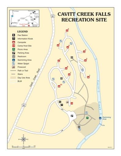 map of Cavit Creek Falls - Recreation Map