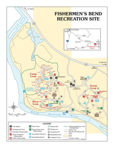 map of Fishermen's Bend - Recreation Map