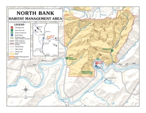 map of North Bank - Recreation Map