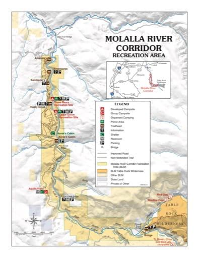 map of Molalla River Corridor - Recreation Map