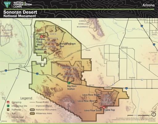 map of Sonoran Desert - Visitor Map