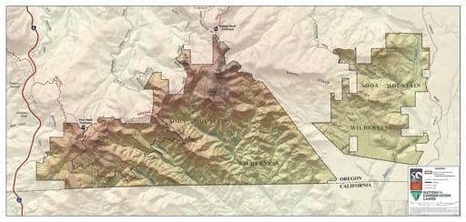 map of Cascade-Siskiyou - Soda Mountain Wilderness