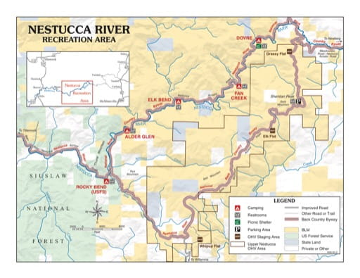 map of Nestucca River - Recreation Map