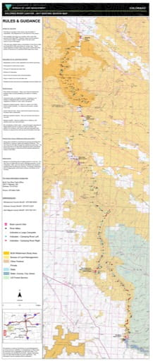 map of Dolores River Canyon - 2017 Boating Season Map