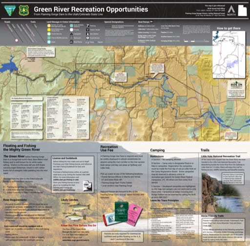 map of Green River - Recreation Map