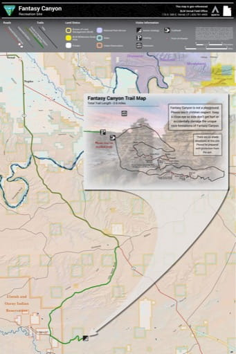 map of Fantasy Canyon - Recreation Area Map