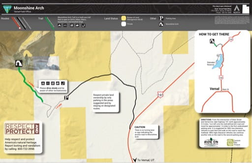 map of Moonshine Arch - Recreation Area Map