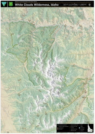 map of White Clouds - Wilderness Map