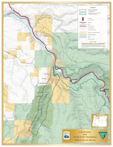 map of Clackamas and South Fork Clackamas - Visitor Map