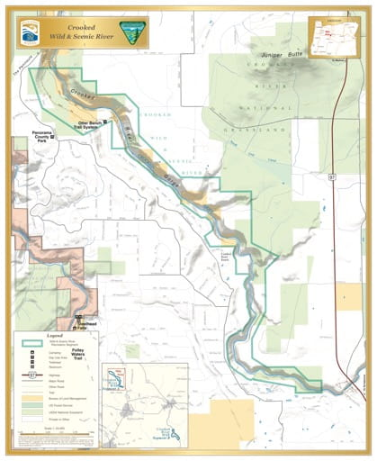map of Crooked River - Segment A