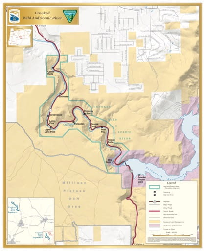map of Crooked River - Segment B