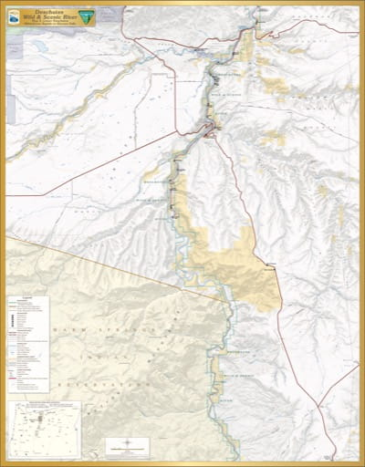 Map 4: Lower Deschutes, shows the section from Whitehorse Rapids to Sherars Falls of Deschutes Wild & Scenic River (WSR) in Oregon. Published by the Bureau of Land Management (BLM).