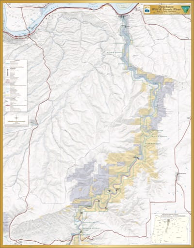 Map 5: Lower Deschutes, shows the section from Sherars Falls to Heritage Landing of Deschutes Wild & Scenic River (WSR) in Oregon. Published by the Bureau of Land Management (BLM).