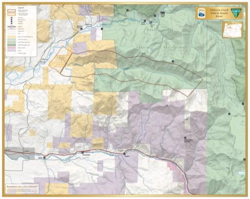 map of Elkhorn Creek - Visitor Map