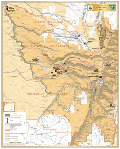 map of Kiger Creek - Visitor Map