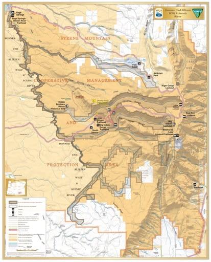 map of Donner und Blitzen - Visitor Map