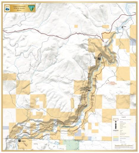 map of Klamath River - Upper Klamath