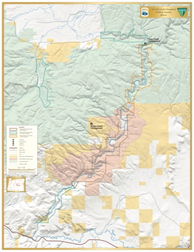 map of Crooked River (North Fork) - Visitor Map