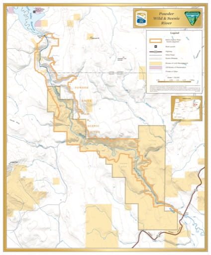 map of Powder River - Visitor Map