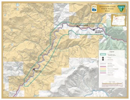 map of Quartzville Creek - Visitor Map