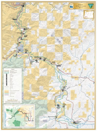 map of Rogue River - Recreation Section