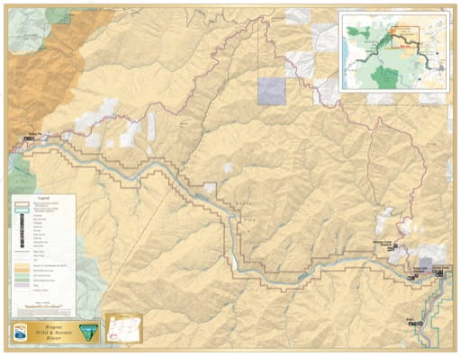 map of Rogue River - Wild Section