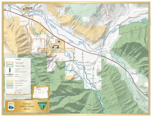 map of Salmon River - Visitor Map