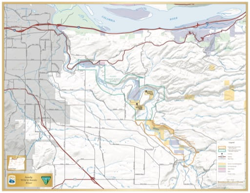 map of Sandy River - Visitor Map