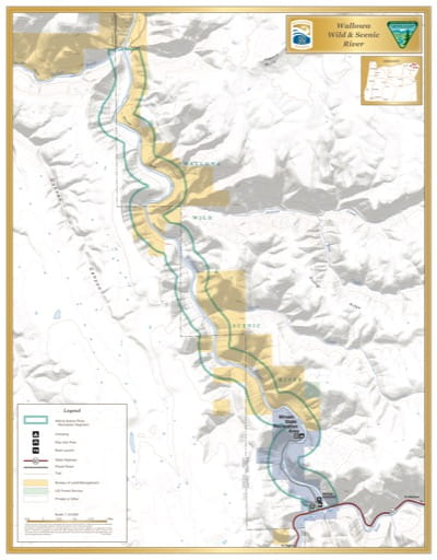 map of Wallowa River - Visitor Map