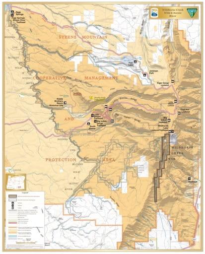 map of Wildhorse Creek - Visitor Map